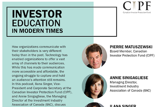 Investor Education in Modern Times